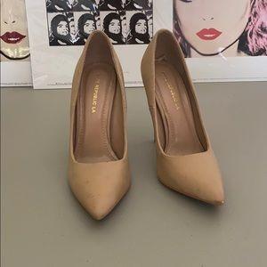 Shoe Republic LA nude heels